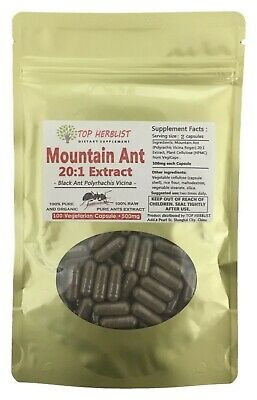 Wild Mountain Ant Polyrhachis Vicina Extract 500mg x 100 Vegetarian Capsule