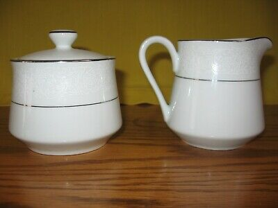 Carlton Fine China  Japan Creamer & Sugar Bowl in Angelique Pattern Excellent