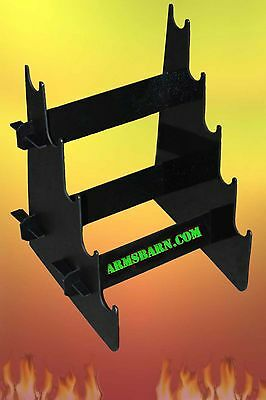 Shotgun/Sword/Rifle/Gun Table Top Stand Display Rack for Gun Show or Business