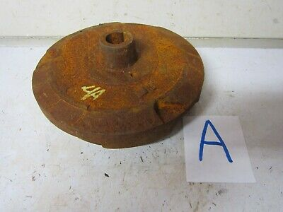 Vintage Cast steel base stand 12 lb.w/ magnet industrial design steampunk part A
