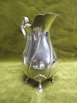 early 20th c english sterling silver creamer milk jug twisted shape shells 205g