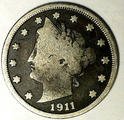 """1911-P  5C Liberty Head Nickel 19ltu """"Only 50 Cents for Shipping"""""""
