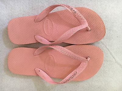 e85f5f9145b2a Havaianas Thong Sandals Flip Flops Rubber Pink Size 6 37 38