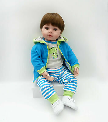 Dolls+Clothes Doll lovely 23'' Handmade Reborn Toddler Silicone Lifelike Baby