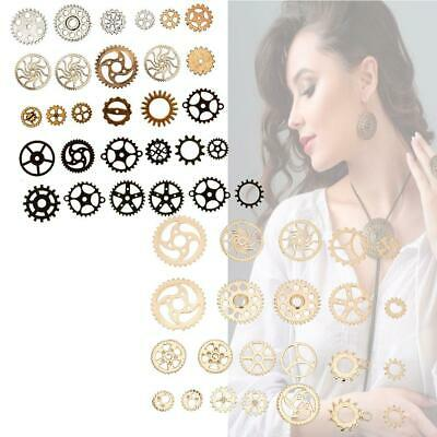 Wholesale Steampunk Skull Cross Gear Pendant Charms For Necklace Jewelry Finding