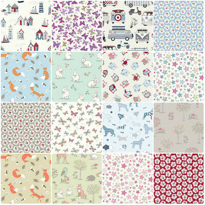 100% Cotton Printed Poplin Fabric Sheeting Material for Crafts & Quilting 54""