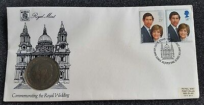 1981 1St Day Issue Prince & Lady Diana Wedding 25 Pence-Wow! Great Royal Gift!