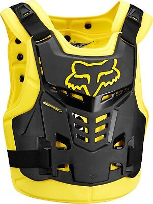 Fox Pro Frame LC Motocross Roost Guard Black/Yellow Adult Size S/M or L/XL