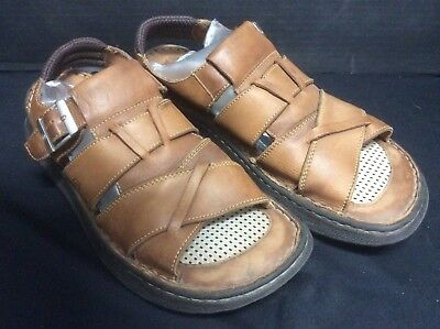 729eedf507da Born Men s Size 13 Brown Leather Fisherman Sandals Casual Open Toe Shoes