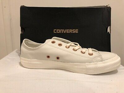 f9dd3cf23e842b CONVERSE ALL STAR Low Leather Pastel Rose Tan Rose Gold Size UK 8 ...