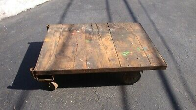 Factory Cart Coffee Table Industrial Steam Punk