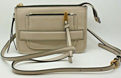 d9a227642 Marc Jacobs Womens Madison Full Leather Crossbody Clutch Bag Pebble Taupe  NEW