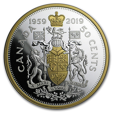2019 Canada 2 oz Silver 60th Anniv of the 1959 Half Dollar - SKU#188194