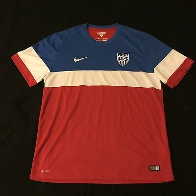 c63cc9506 Mens Nike USA Soccer Jersey 2014 Home Size XL Fantastic Condition