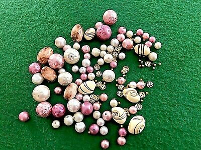 Mixed Bead Lot Assorted Sizes Shapes Spacers Colors for Crafts Jewelry Making