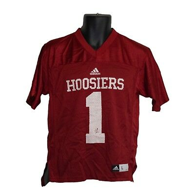Youth Boys adidas Indiana Hoosiers Red  1 Football Jersey Size L Large 6262fdc86