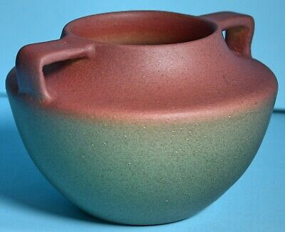 Arts & Crafts Pottery Buttress Handles Matte Finish Medium Vase