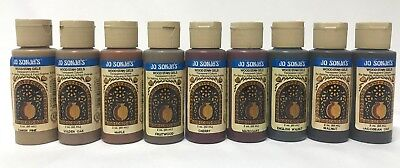 Jo Sonja Wood Stain Gels Set 9 x 60ml bottles - Clearance Stock Bargain Price!