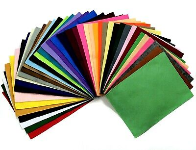 "Felt Craft Squares 9""x12"" choose 1 square from 41 washable Acrylic colours"
