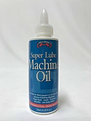 125ml bottle SUPER LUBE MACHINE OIL Helmar LUBRICANT FOR ALL MACHINERY WHITE OIL
