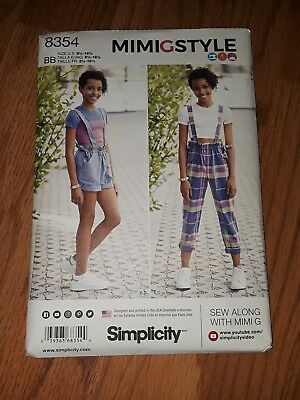 8eabbc9a59489 SIMPLICITY 8354 GIRLS Plus Cropped Top Shorts Pants Sewing Pattern 8 ...