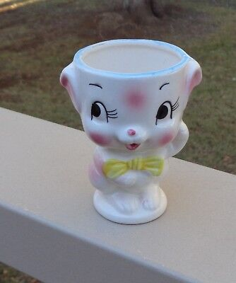Pretty Vintage Novelty Cute Lamb Egg Cup *Pastel Colours *Made in Japan