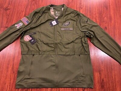 Nike Men s Philadelphia Eagles Salute To Service Hybrid Jacket XXL 2XL  Football f60e43b8b