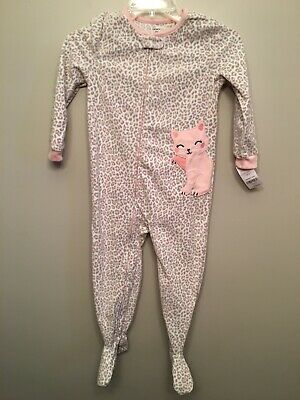5553b1434 5T CARTERS GIRLS Fleece One Piece Footed Pajama Blanket Sleeper size ...