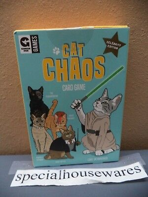 Ginger Fox Fast Paced Card Game Celebrity Edition: Cat Chaos NIP
