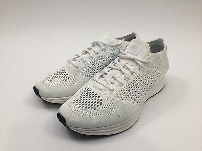 1fd78afd74ba New Mens Nike Flyknit Racer Running Shoes Size 7.5   Womens 9 White  526628-100