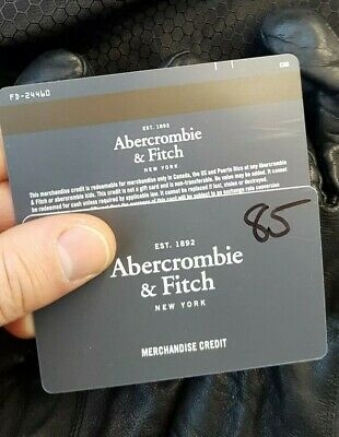 Abercrombie & Fitch Canada merchandise credit $88