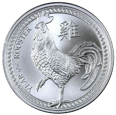 """2017 """"YEAR OF THE ROOSTER""""  from Provident 1 oz. .999 Fine SILVER Round"""