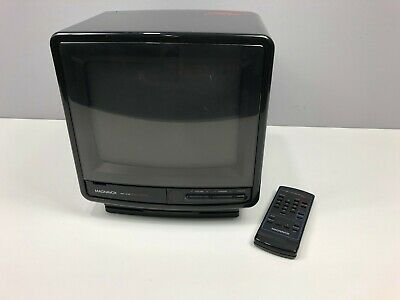 VINTAGE Magnavox Perfect View Television Color TV AC/DC /w REMOTE 1989 Gaming