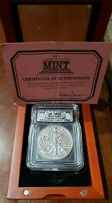2016 American Silver Eagle ICG Certified MS 70 First Day Of Issue Box
