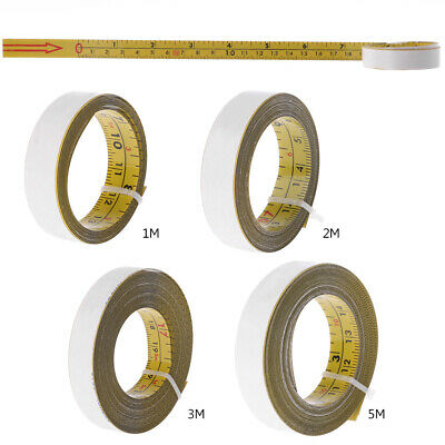 Inch & Metric Self Adhesive Tape Measure Steel Miter Saw Scale Miter Track Ruler
