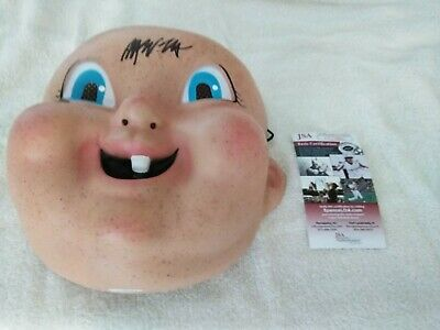 "Rob Mello Signed ""Happy Death Day"" Mask Movie Replica Autographed with JSA NEW"