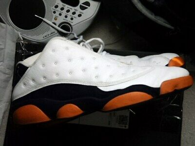 d4f5dfbb959b Nike Air Jordan XIII 13 Retro Low CERAMIC Men s Size 13 White Blue Orange