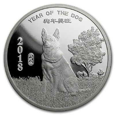 "2018 ""YEAR OF THE DOG""  1 oz. .999 Fine SILVER Round"