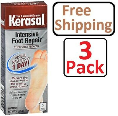 Kerasal Intensive Foot Repair Ointment 1 oz (3 Pack)