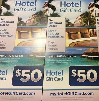 $100 ($50x2) Hotel Gift Card from MyHotelGiftCard.Com Travel US Nationwide