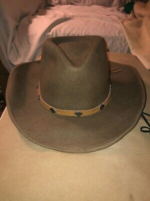 43eb776dfc4 Outback Trading Co. Hat Mens Cowboy Felt Wool M Brown 1336 Wide Open Spaces