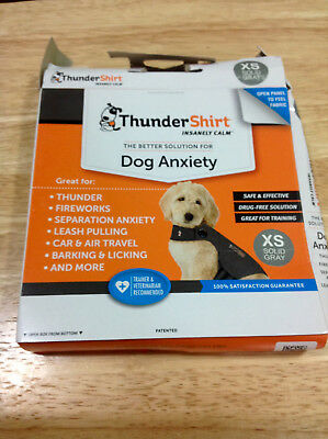 Genuine ThunderShirt for Dog Anxiety XS Solid Gray *****FAST FREE SHIPPING*****
