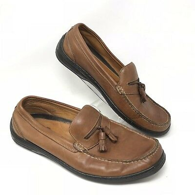 478aacb8aa24 Tommy Bahama Men s Size 11 Moccasins Loafers Boat Shoes TB-307 Brandy Brown