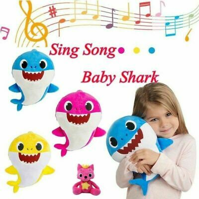 Baby Shark Plush Singing Plush Toys Music Soft Doll Song Gift for Cartoon kids