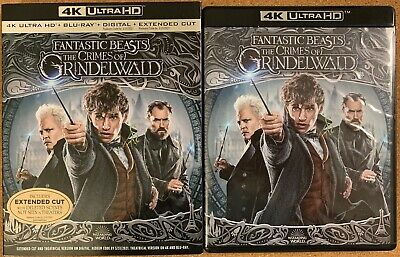 Fantastic Beasts The Crimes Of Grindelwald 4K Ultra Hd Blu Ray + Slipcover Sleev