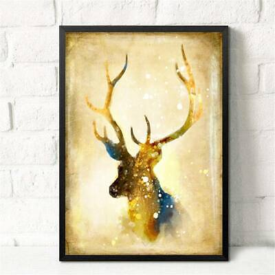 Huge Wall Art Unframed Modern Abstract Decor Nordic Elk Oil Painting On Canvas A