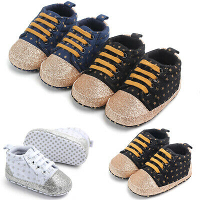 Csfry Boy Baby Shoes Infant Toddler Soft Sole Athletic Sport Canvas Booties 0-18