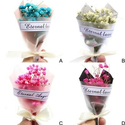 1 Bouquet Natural Dried Mini Babysbreath Flowers Wedding Party Decoration Gift