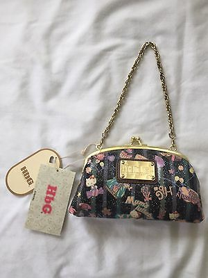 bab4b018770b  RARE!  Hello Kitty x HbG Kisslock Purse Clutch Chain Bag BNWT Sanrio Japan