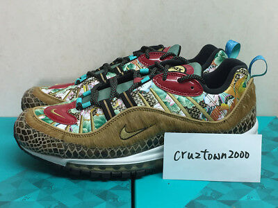 Nike Air Max 98 CNY Sz 9 9.5 10 China Exclusive Tianjin Style Wheat Gold Black